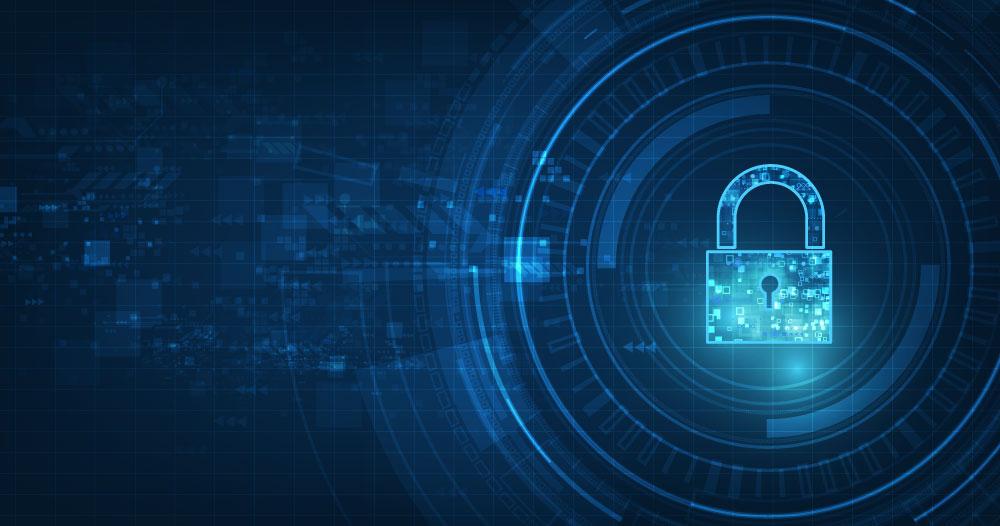 Photo banner of digital padlock